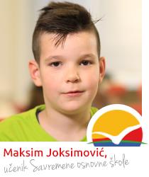 Maksim Joksimović, učenik Savremene osnovne škole
