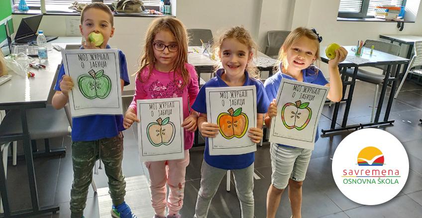 Savremeni osnovci promovišu zdrave navike: Obeležili su Dan jabuka
