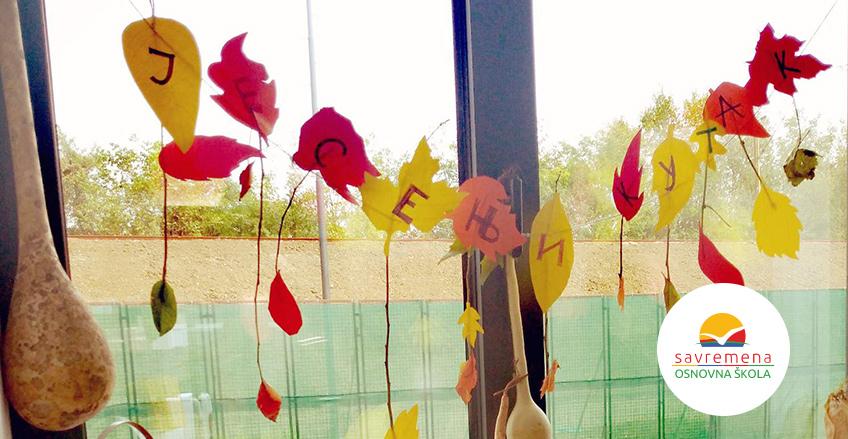 Kreativci na delu: Savremeni osnovci u školi napravili svoj jesenji kutak