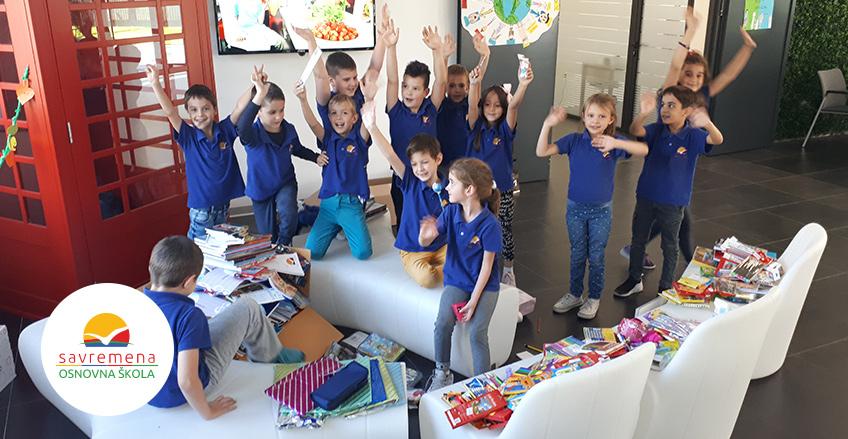 Savremeni osnovci prikupili školski pribor za drugare iz škola širom Srbije