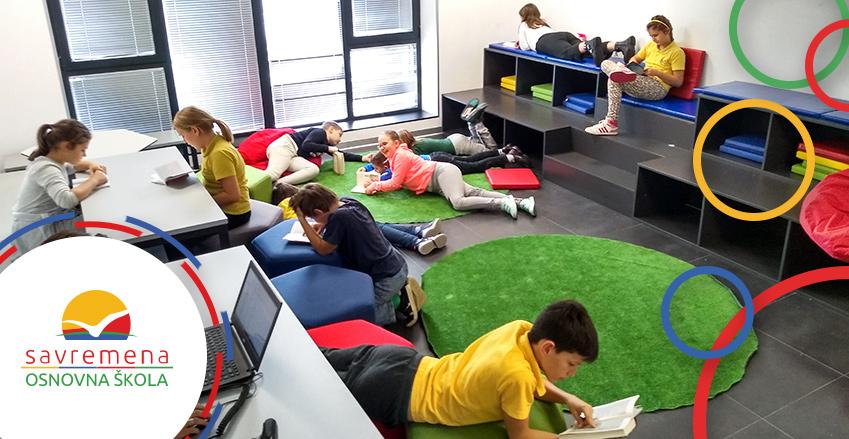 Kako izgleda kreativna nastava u Savremenoj? Na času srpskog jezika u školskoj biblioteci
