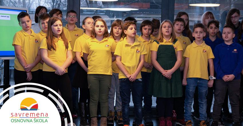 Učenici Savremene škole slave Sveti Sava