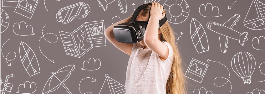 Devojčica uči pomoću VR tehnologije