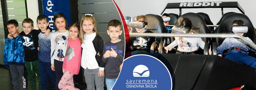 Mališani iz vrtića proveli zabavan dan u Savremenoj školi