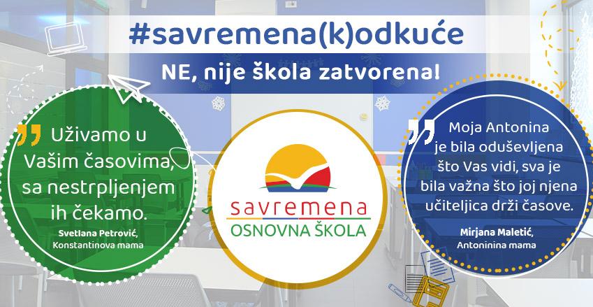 #savremena(k)odkuće: NE, nije škola zatvorena!
