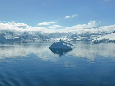 Sante leda na Antarktiku