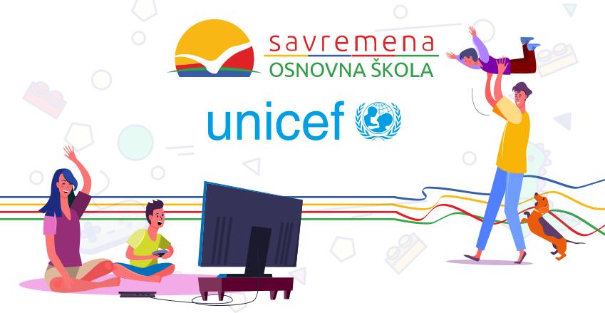 Savremena obavestava roditelje i posetioce svog sajta o izazovu koji je pokrenuo UNICEF