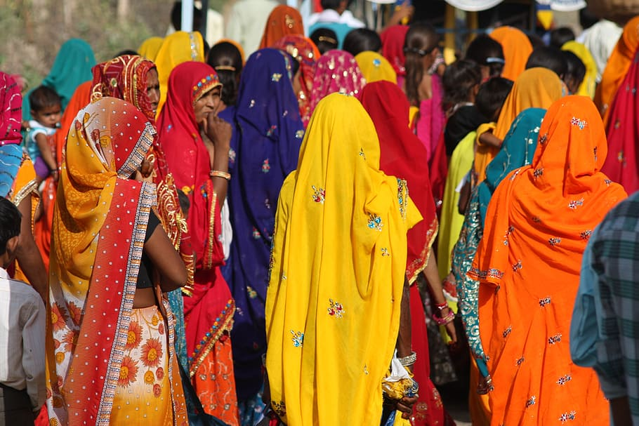 Žene u indijskom sariju