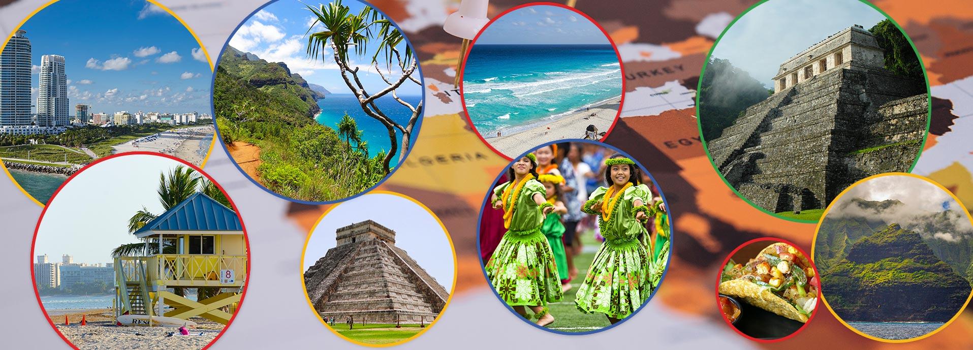Majami, Havaji i Meksiko