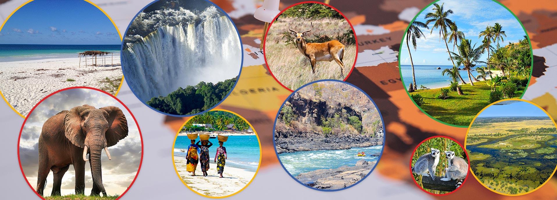 Bocvana, Zimbabve, Mozambik i Madagaskar