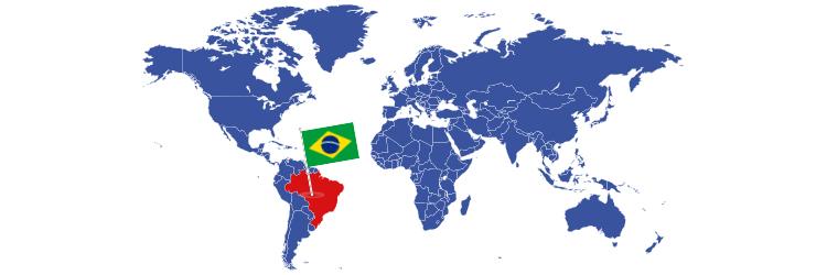 Brazil na mapi sveta