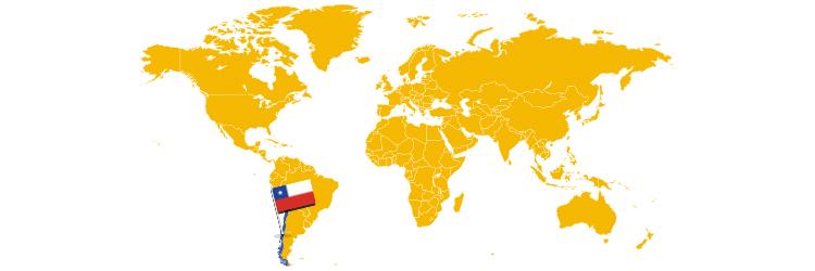 Čile na mapi sveta