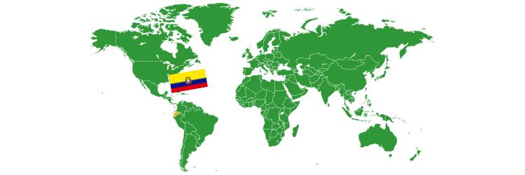 Ekvador na mapi sveta
