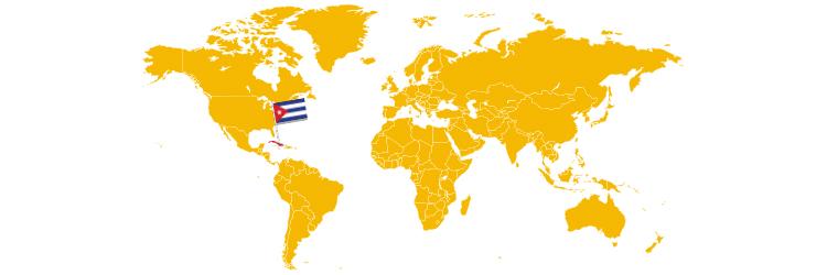Kuba na mapi sveta