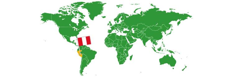 Peru na mapi sveta