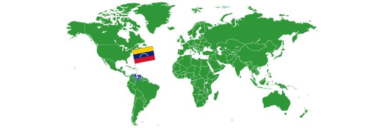 Venecuela na mapi sveta