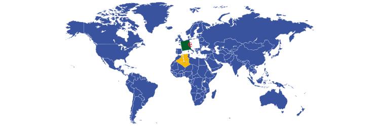 Alžir na mapi sveta