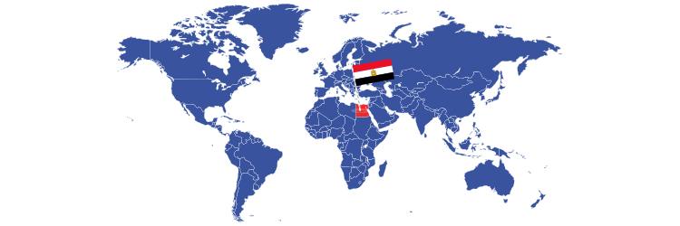 Egipat na mapi sveta