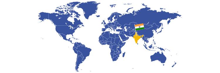 Indija na mapi sveta