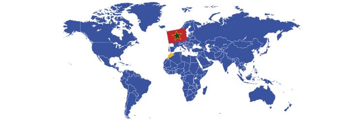 Maroko na mapi sveta