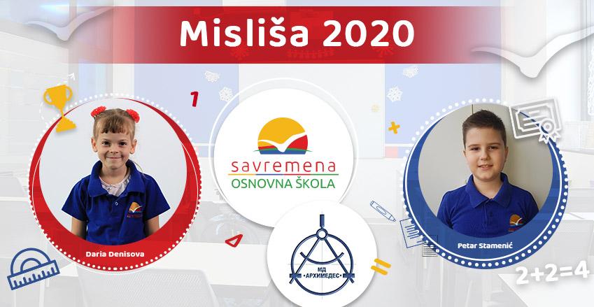 """Daria Denisova i Petar Stamenić oduševili na matematičkom takmičenju """"Misliša 2020"""""""