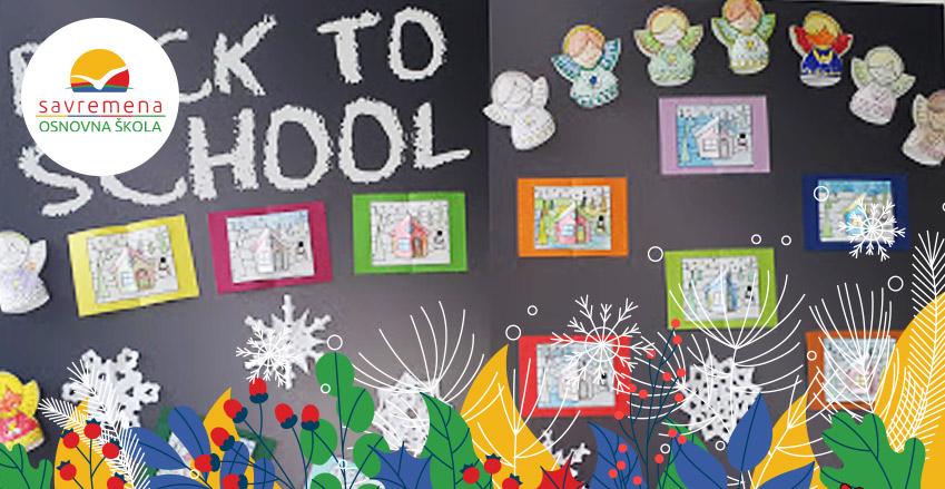 Radovi učenika inspirisani Novom godinom i prazničnom atmosferom